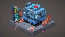 BOX TANK 3D Model