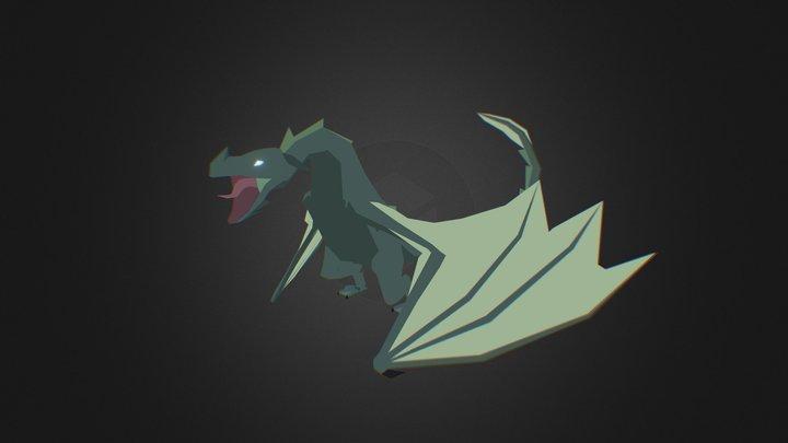 Low poly Dragon/Drake 3D Model