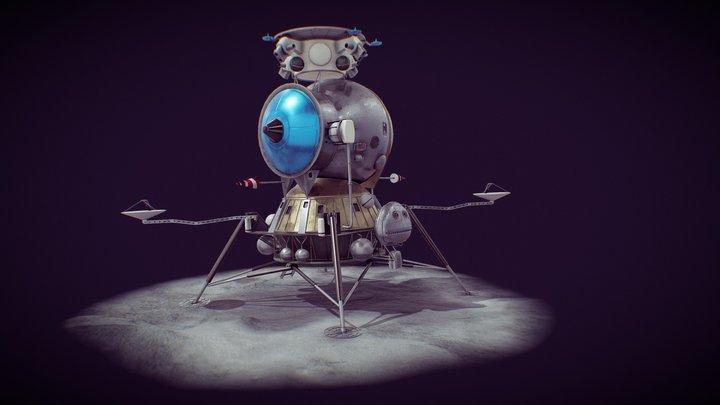 LK - Soviet Lunar Lander 3D Model