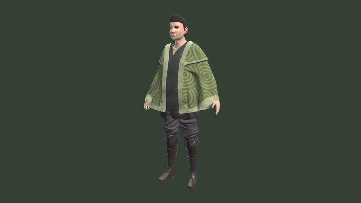 Wondering Traveler 3D Model