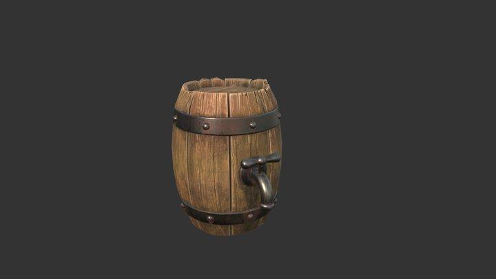 Old Barrel 3D Model