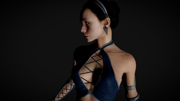 Kitana MK11 in MK9 suit 3D Model