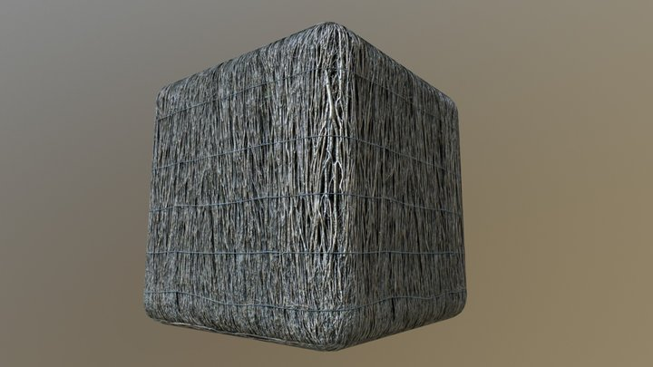 Tiled PBR material - Thatching 3D Model