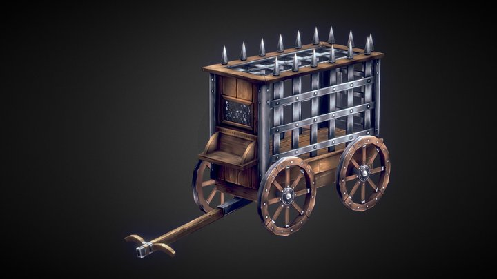 Cage Wagon 3D Model