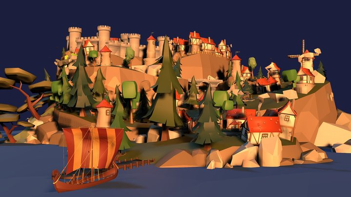 Issum, The town on Capital Isle 3D Model