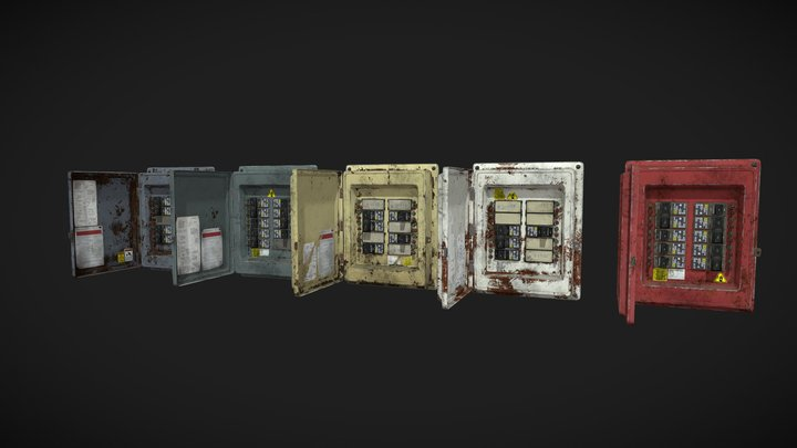 Switch boxes pack 3D Model