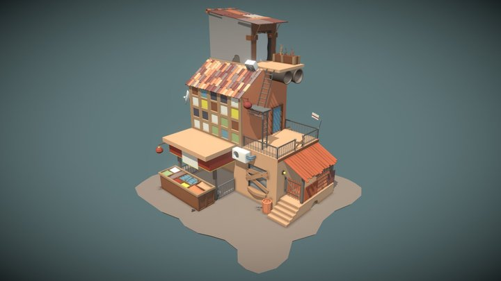 House with a Store 3D Model