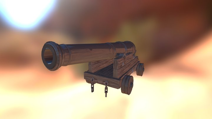 Cannon old 3D Model