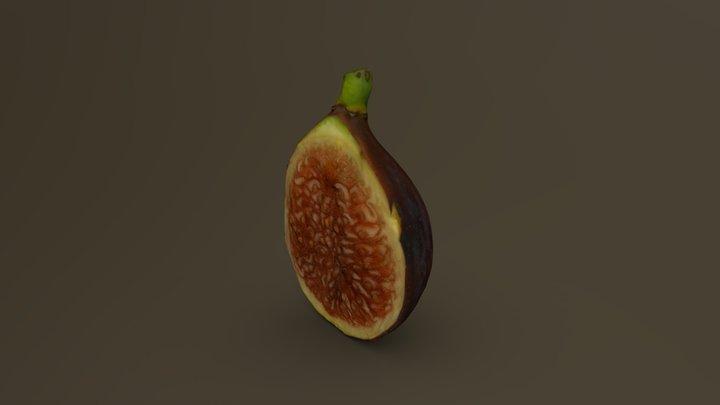 Black Fig Cut in Half 06 3D Model