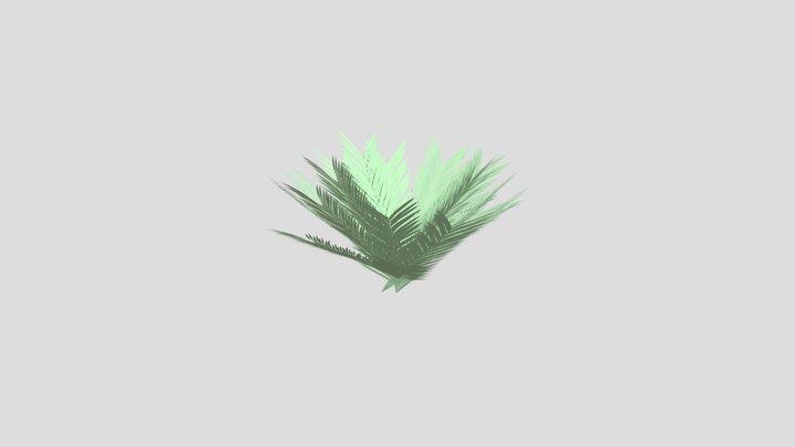 High Poly Fern Leaves & Fern Bush 3D Model
