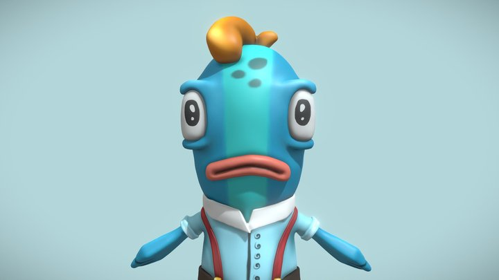 Fish Character - Ready for animation 3D Model