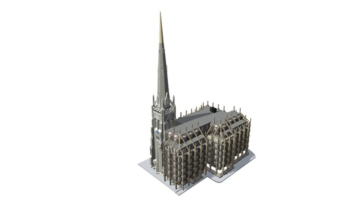 Spire House - 3D Building Model (E,T) 3D Model