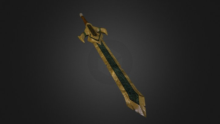 Golden Sword 3D Model