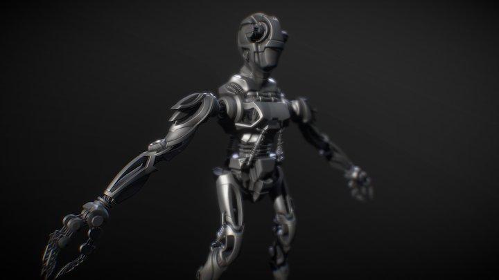 Robo Creep Sculpt WIP 3D Model