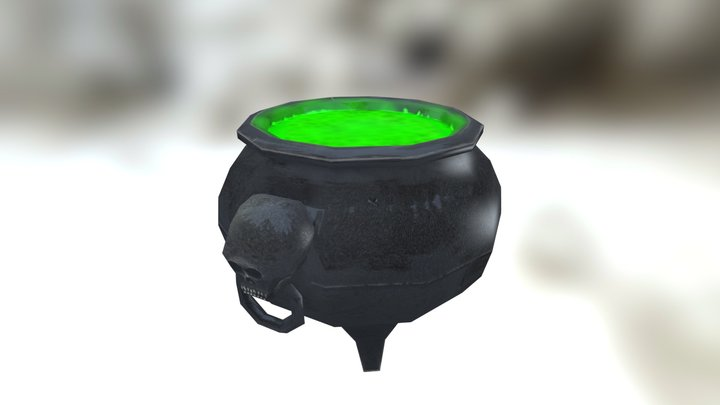 Low Poly Cauldron (updated) 3D Model