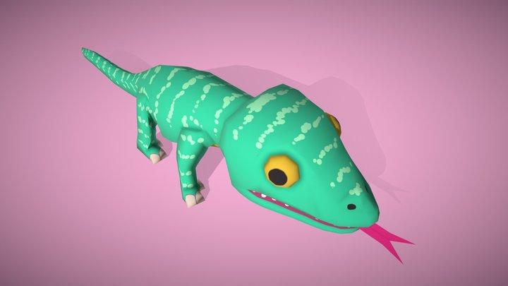 Cartoon Lizard - Low Poly Game 3D Model