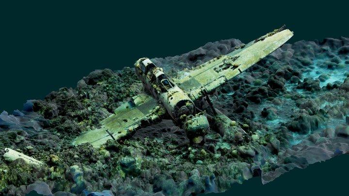 Aichi E13A 'Jake' seaplane Palau 3D Model