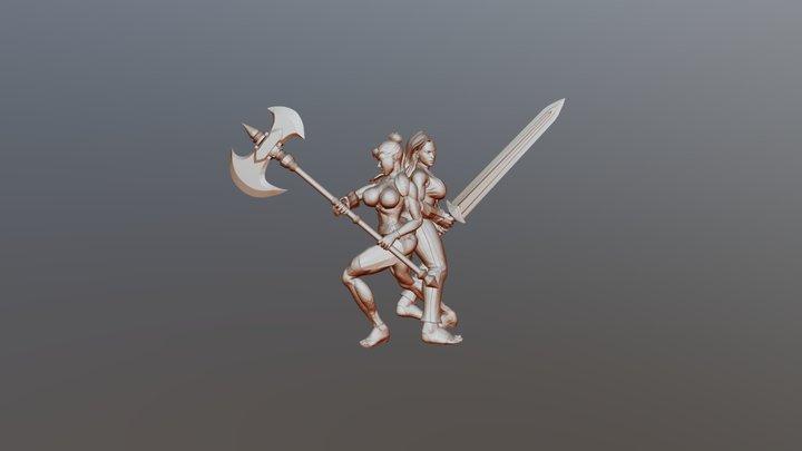 Pirate Brutes - Female 3D Model