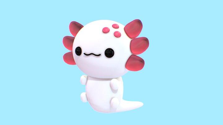 Cute Axolotl 3D Model