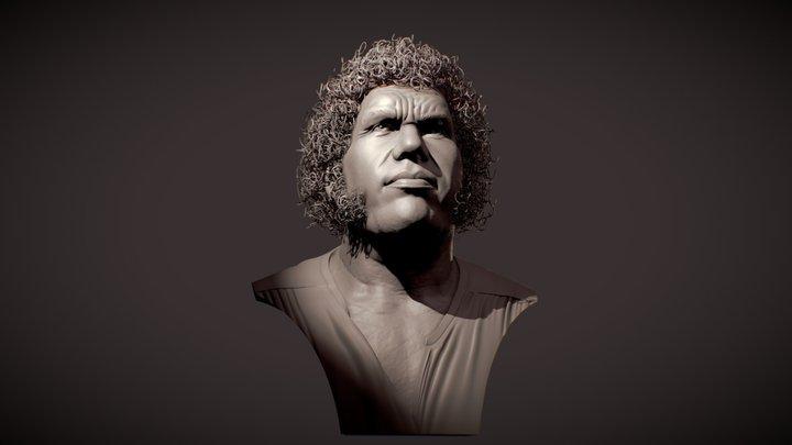 Andre the Giant WIP V03 3D Model