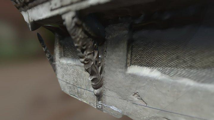 Wooden Strut detail in Ahmedabad 3D Model