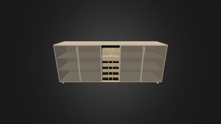 Bookcase-3D 009 3D Model
