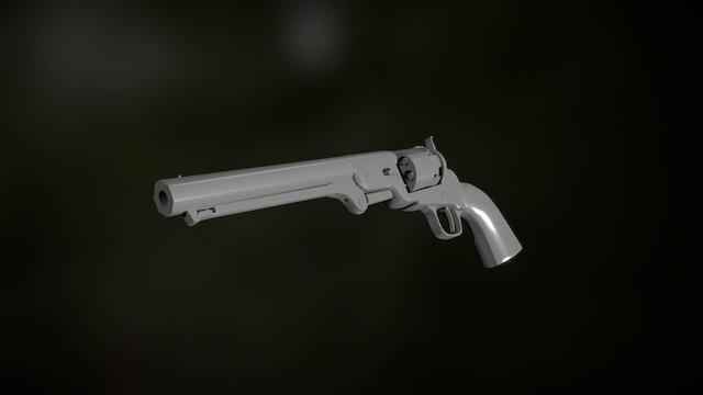 Colt Navy 1851 3D Model