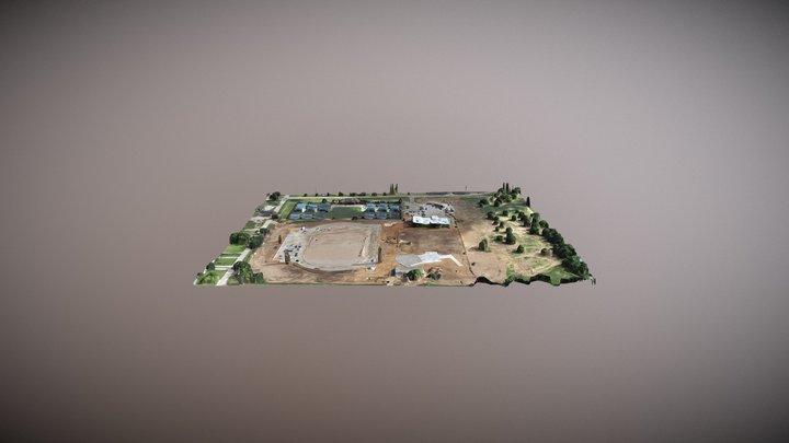 UNT - Track & Field 3D Model