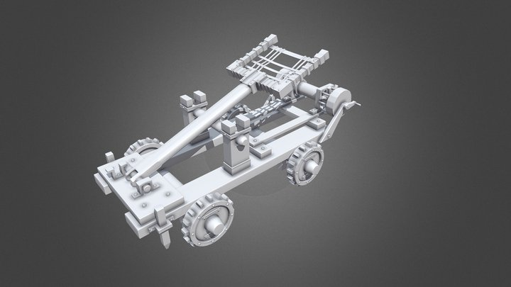 Stylized Catapult 3D Model