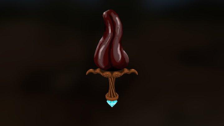 """Dragon's Tongue """"Sword"""" 3D Model"""