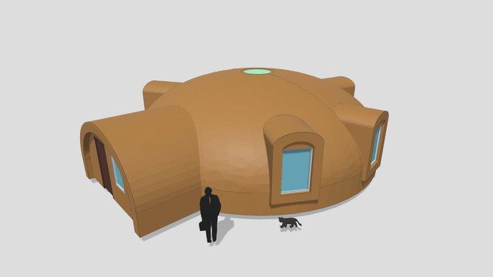 """3d Flat dome 10m UAB """"SFEROS"""" 3D Model"""