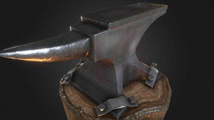 Blacksmith Anvil 3D Model