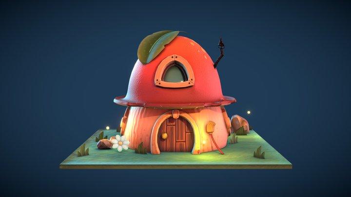 Mushroom House 3D Model