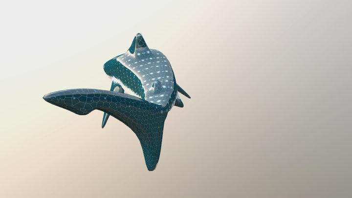 The Toothless Glas Shark 3D Model