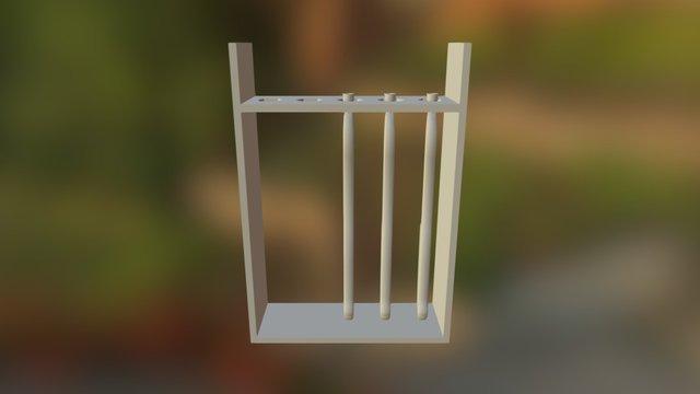 Ashigaru Musket Stand 3D Model