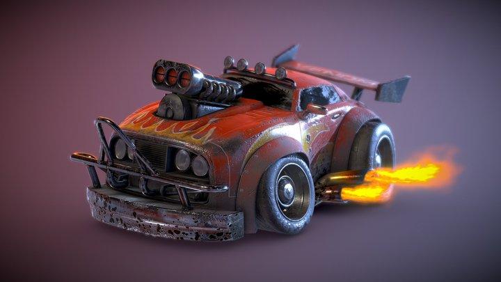 3D Stylized Muscle Car 3D Model