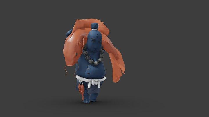 Godobi the Fisherman 3D Model