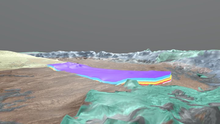 Crommelin Crater (Mars): 3D geo model of layers 3D Model