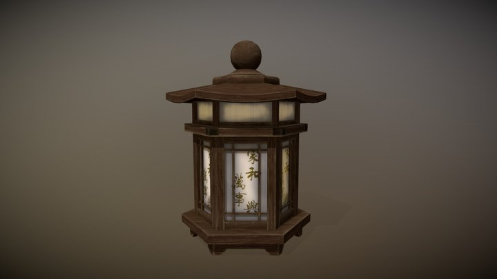 Asian Lamp 3D Model