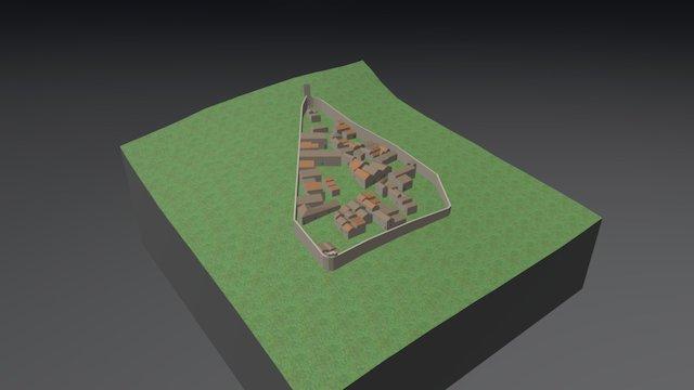 Castello di Tione degli Abruzzi 3D Model