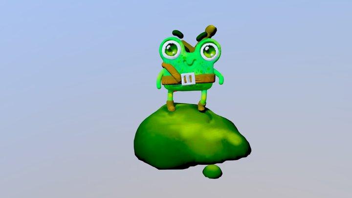 Frog warrior 3D Model