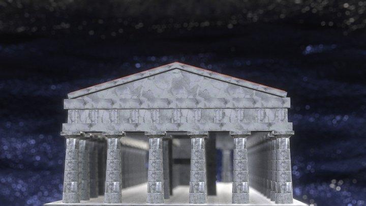 Animated Time Lapse: Atlantis Temple 3D Model