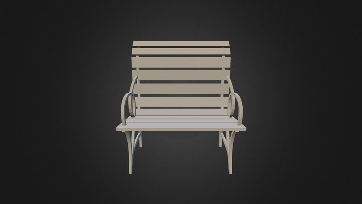 Cadeira Madeira Ferro 1 3D Model
