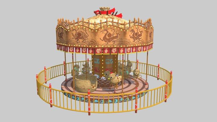 Kids Carousel 3D Model
