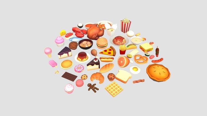 Low Poly Food Pack Vol. 1 3D Model
