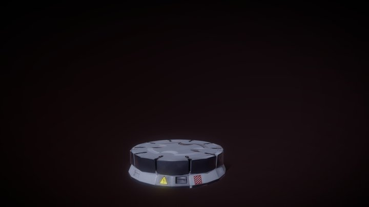 Animated panel of teleportation 3D Model