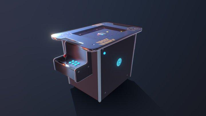 Retro Arcade Table 3D Model