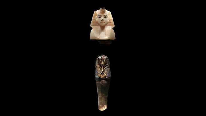 Toutânkhamon - Vase Canope / Tutankhamun 3D Model