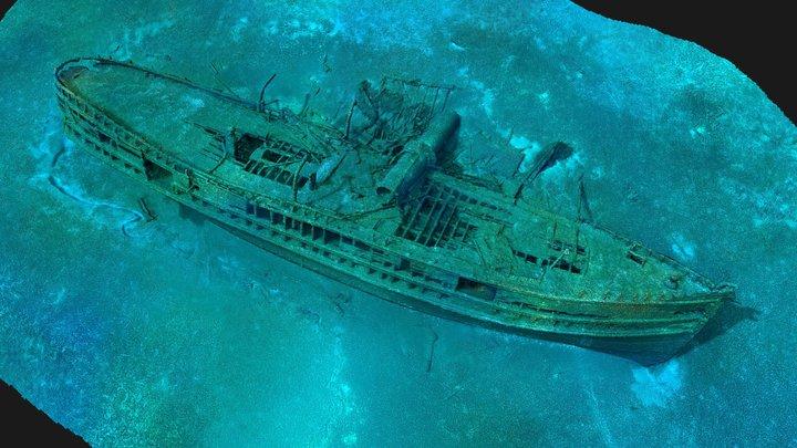 Shipwreck J. H. Jones 3D Model