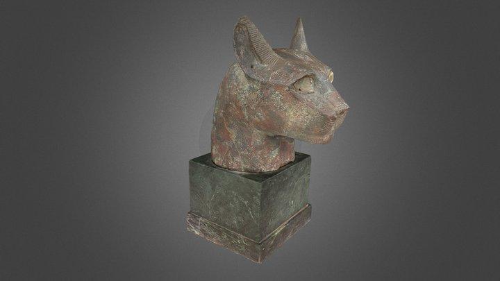Bronze cat 3D Model